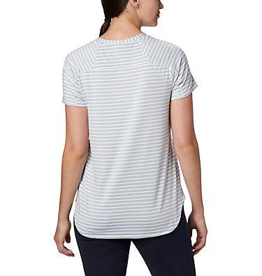Women's Firwood Camp II Short Sleeve Shirt Firwood Camp™ II SS Tee | 101 | XS, White Medium Stripe, back