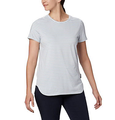 Women's Firwood Camp II Short Sleeve Shirt Firwood Camp™ II SS Tee | 101 | XS, White Medium Stripe, front