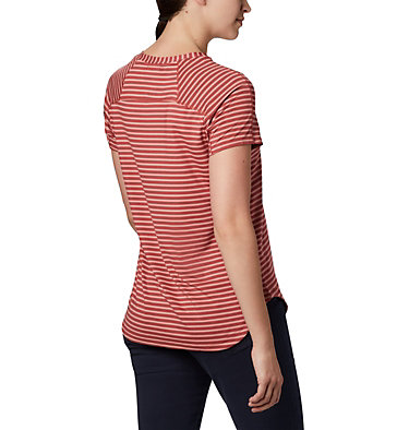 Women's Firwood Camp II Short Sleeve Shirt Firwood Camp™ II SS Tee | 101 | XS, Dusty Crimson Medium Stripe, back