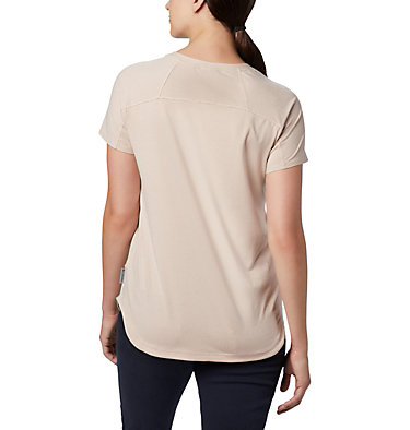 Women's Firwood Camp II Short Sleeve Shirt Firwood Camp™ II SS Tee | 101 | XS, Peach Cloud Small Stripe, back