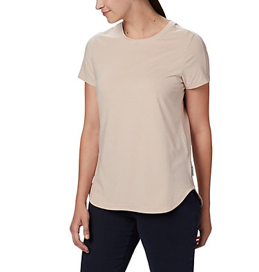 Women's Firwood Camp II Short Sleeve Shirt Firwood Camp™ II SS Tee | 101 | XS, Peach Cloud Small Stripe, front