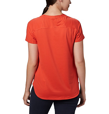Women's Firwood Camp™ T-Shirt Firwood Camp™ II SS Tee | 847 | L, Bright Poppy Small Stripe, back