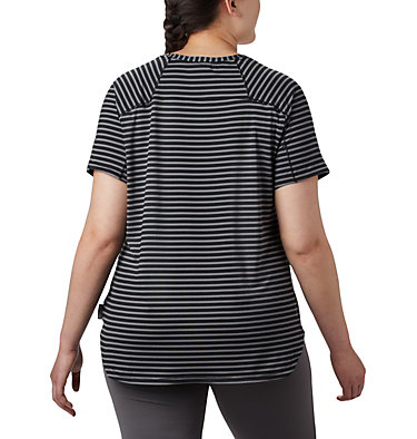 Women's Firwood Camp™ II Short Sleeve Shirt – Plus Size Firwood Camp™ II SS Tee | 101 | 1X, Black Medium Stripe, back