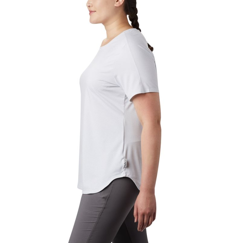 Firwood Camp™ II SS Tee | 100 | 2X Women's Firwood Camp™ II Short Sleeve Shirt – Plus Size, White Small Stripe, a1