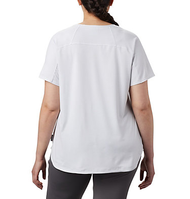 Women's Firwood Camp™ II Short Sleeve Shirt – Plus Size Firwood Camp™ II SS Tee | 101 | 1X, White Small Stripe, back