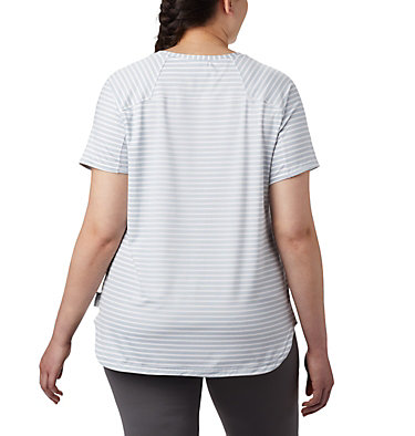 T-shirt à manches courtes Firwood Camp™ II pour femme – Grandes tailles Firwood Camp™ II SS Tee | 101 | 1X, White Medium Stripe, back