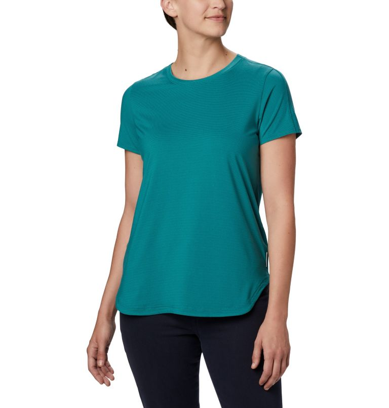 Firwood Camp™ II SS Tee | 340 | 2X T-shirt à manches courtes Firwood Camp™ II pour femme – Grandes tailles, Waterfall Small Stripe, front