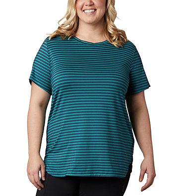Women's Firwood Camp™ II Short Sleeve Shirt – Plus Size Firwood Camp™ II SS Tee | 556 | 2X, Waterfall Medium Stripe, front