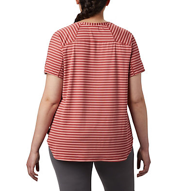 T-shirt à manches courtes Firwood Camp™ II pour femme – Grandes tailles Firwood Camp™ II SS Tee | 101 | 1X, Dusty Crimson Medium Stripe, back