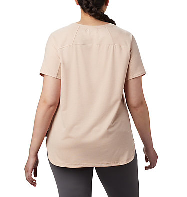 T-shirt à manches courtes Firwood Camp™ II pour femme – Grandes tailles Firwood Camp™ II SS Tee | 101 | 1X, Peach Cloud Small Stripe, back