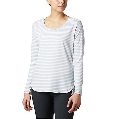 Women's Firwood Camp™ Long Sleeve Shirt Firwood Camp™ LS Tee | 556 | L, White Medium Stripe, front