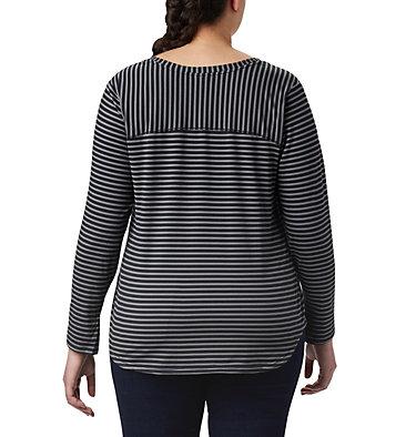 T-shirt à manches longues Firwood Camp™ pour femme – Grandes tailles Firwood Camp™ LS Tee | 556 | 1X, Black Medium Stripe, back