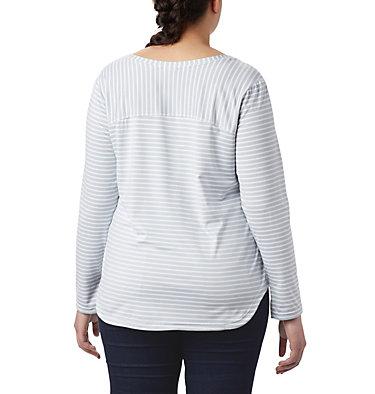 T-shirt à manches longues Firwood Camp™ pour femme – Grandes tailles Firwood Camp™ LS Tee | 556 | 1X, White Medium Stripe, back