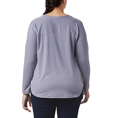 T-shirt à manches longues Firwood Camp™ pour femme – Grandes tailles Firwood Camp™ LS Tee | 556 | 1X, New Moon Small Stripe, back