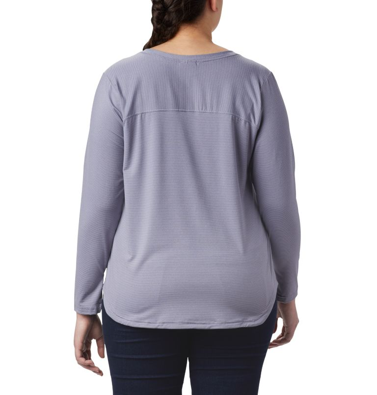 Firwood Camp™ LS Tee | 556 | 1X T-shirt à manches longues Firwood Camp™ pour femme – Grandes tailles, New Moon Small Stripe, back