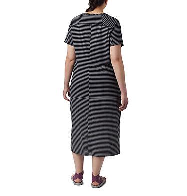Women's Firwood Camp™ Tee Dress – Plus Size Firwood Camp™ Tee Dress | 870 | 1X, Black Medium Stripe, back