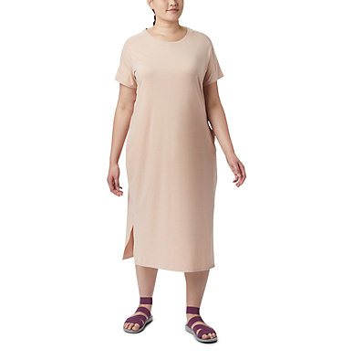 Robe t-shirt Firwood Camp™ pour femme – Grandes tailles Firwood Camp™ Tee Dress   870   1X, Peach Cloud Small Stripe, front