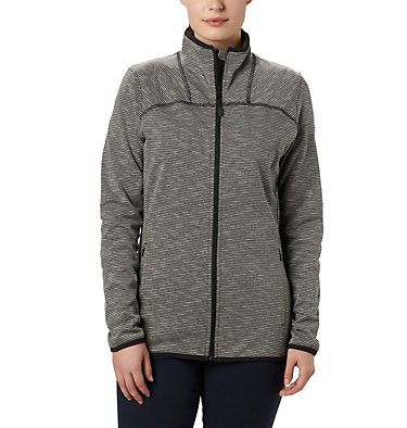 Polar con cremallera completa a rayas Firwood Camp™ para mujer  Firwood Camp™ Striped Fleece FZ | 466 | L, Black, front