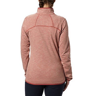 Women's Firwood Camp™ Fleece Jacket Firwood Camp™ Striped Fleece FZ | 466 | L, Dusty Crimson, back