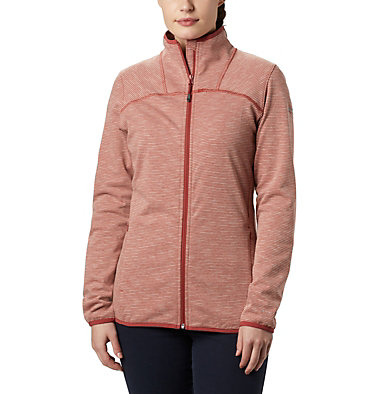 Women's Firwood Camp™ Fleece Jacket Firwood Camp™ Striped Fleece FZ | 466 | L, Dusty Crimson, front