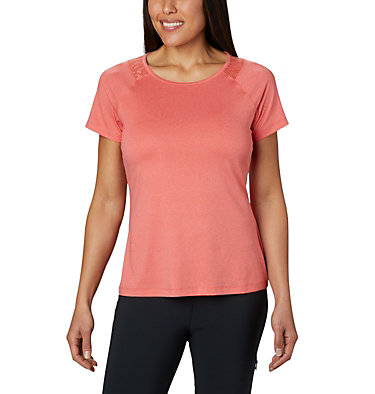 Women's Peak To Point™ II T-Shirt Peak To Point™ II SS Tee | 847 | L, Bright Poppy Heather, front