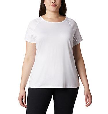 Women's Peak To Point™ II T-Shirt – Plus Size Peak To Point™ II SS Tee | 010 | 1X, White, front