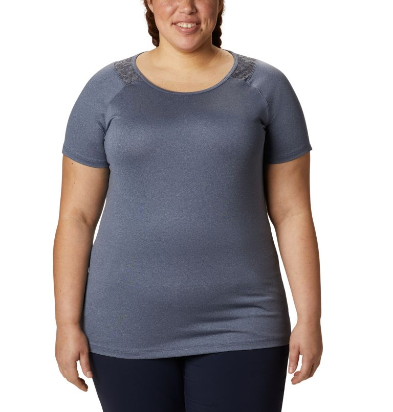 Peak To Point™ II SS Tee   466   2X Women's Peak To Point™ II T-Shirt – Plus Size, Nocturnal Heather, front