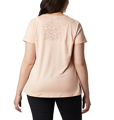 Women's Peak To Point™ II T-Shirt – Plus Size Peak To Point™ II SS Tee | 010 | 1X, Peach Cloud Heather, back
