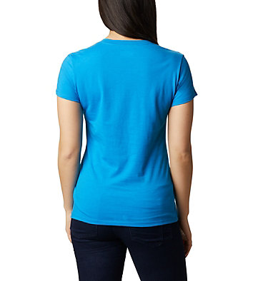 Women's Solar Shield™ Graphic Tee Solar Shield™ Graphic Tee | 466 | L, Static Blue, Linear Waves, back