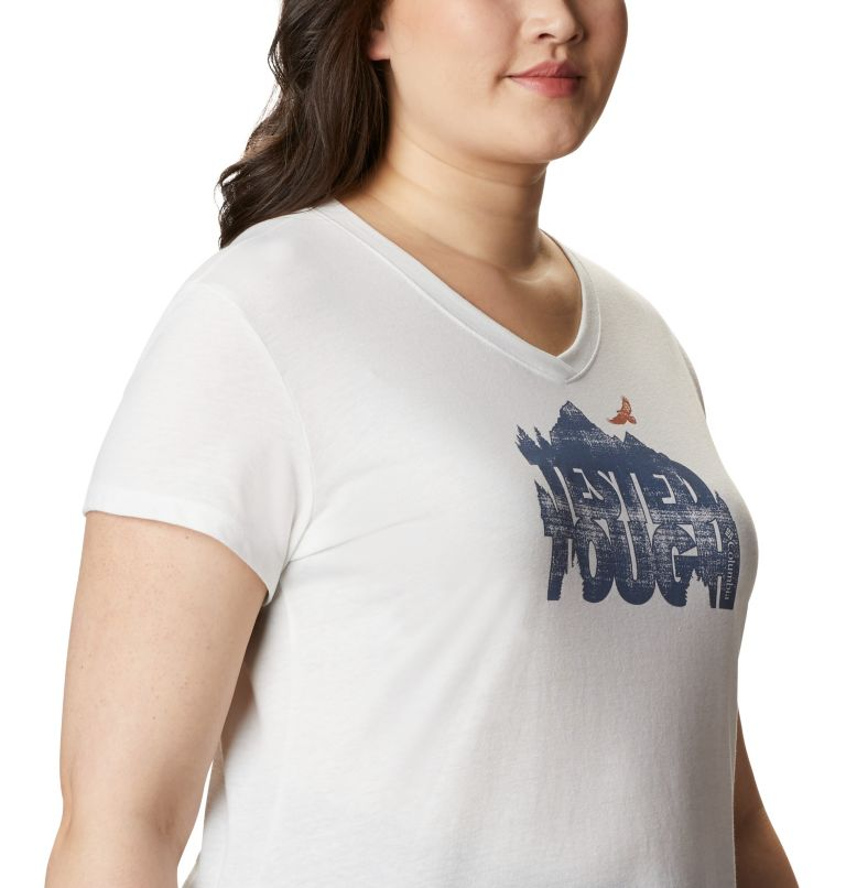 Solar Shield™ Graphic Tee | 101 | 1X Women's Solar Shield™ Graphic Tee – Plus Size, White, Tested Tough, a3