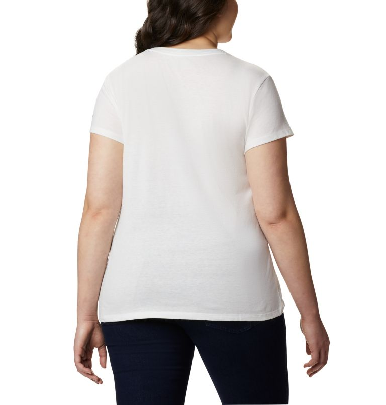 Solar Shield™ Graphic Tee | 101 | 1X Women's Solar Shield™ Graphic Tee – Plus Size, White, Tested Tough, back