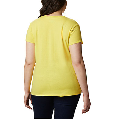 Women's Solar Shield™ Graphic Tee – Plus Size Solar Shield™ Graphic Tee | 729 | 1X, Buttercup, back