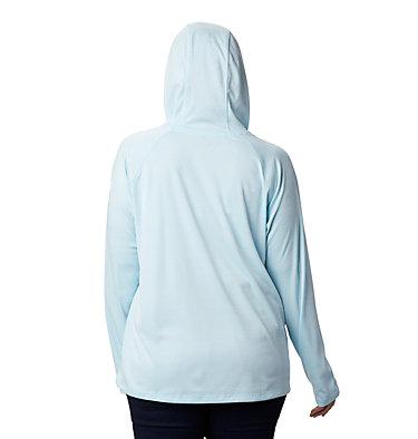 Women's PFG Zero Rules™ Hoodie – Plus Size Zero Rules™ Hoodie | 031 | 1X, Static Blue Heather, back