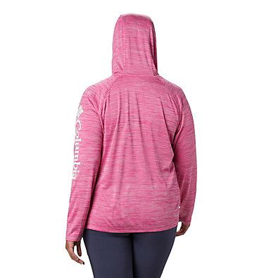 Women's PFG Zero Rules™ Hoodie – Plus Size Zero Rules™ Hoodie | 010 | 1X, Haute Pink Heather, back