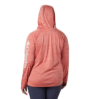 Women's PFG Zero Rules™ Hoodie – Plus Size Zero Rules™ Hoodie | 010 | 1X, Bright Poppy Heather, back