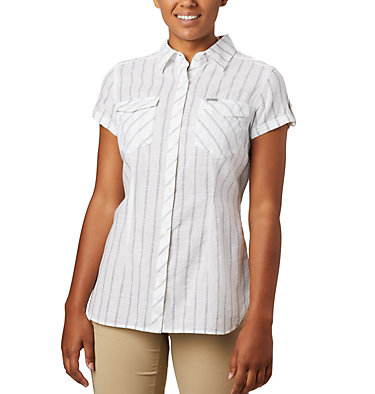 Women's Camp Henry™ II Short Sleeve Shirt Camp Henry™ II SS Shirt | 384 | S, White Stripe, front