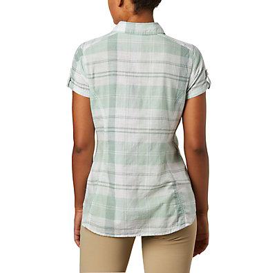 Women's Camp Henry™ II Short Sleeve Shirt Camp Henry™ II SS Shirt | 384 | S, New Mint Large Plaid, back