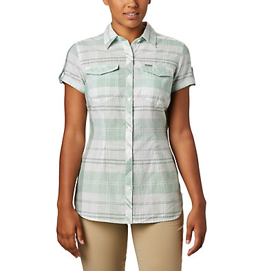 Women's Camp Henry™ II Short Sleeve Shirt Camp Henry™ II SS Shirt | 384 | S, New Mint Large Plaid, front