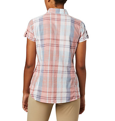 Women's Camp Henry™ II Short Sleeve Shirt Camp Henry™ II SS Shirt | 384 | S, New Moon Large Plaid, back