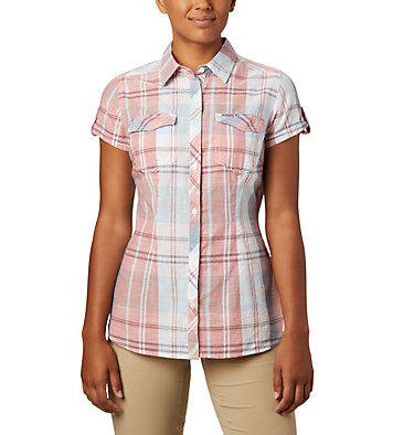 Women's Camp Henry™ II Short Sleeve Shirt Camp Henry™ II SS Shirt | 384 | S, New Moon Large Plaid, front