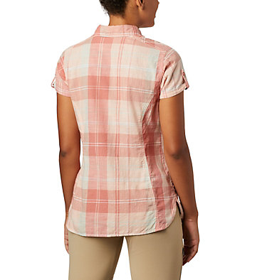 Women's Camp Henry™ II Short Sleeve Shirt Camp Henry™ II SS Shirt | 384 | S, Cedar Blush Large Plaid, back