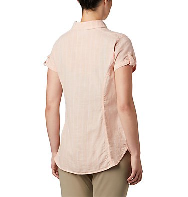 Women's Camp Henry™ II Short Sleeve Shirt Camp Henry™ II SS Shirt | 384 | S, Peach Cloud Stripe, back