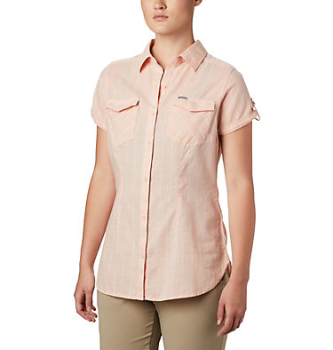 Women's Camp Henry™ II Short Sleeve Shirt Camp Henry™ II SS Shirt | 384 | S, Peach Cloud Stripe, front