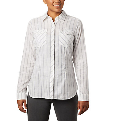 Women's Camp Henry™ II Shirt Camp Henry™ II LS Shirt | 384 | L, White Stripe, front