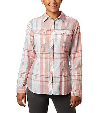 Women's Camp Henry™ II Shirt Camp Henry™ II LS Shirt | 384 | L, New Moon Large Plaid, front