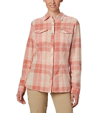 Women's Camp Henry™ II Shirt Camp Henry™ II LS Shirt | 384 | L, Cedar Blush Large Plaid, front