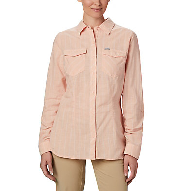 Women's Camp Henry™ II Shirt Camp Henry™ II LS Shirt | 384 | L, Peach Cloud Stripe, front