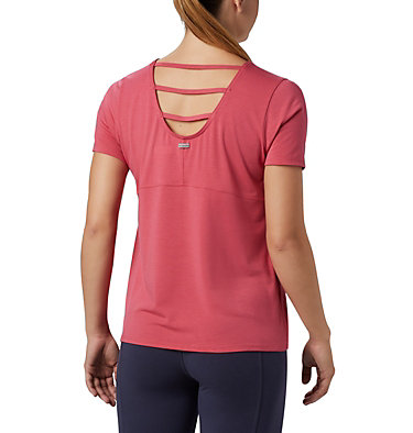 T-shirt à manches courtes Essential Elements™ pour femme Essential Elements™ SS Shirt | 466 | L, Rouge Pink, back