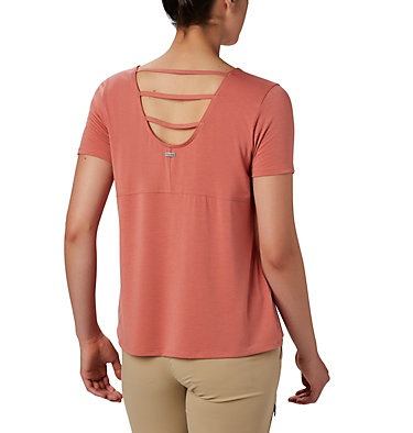 Women's Essential Elements™ Short Sleeve Shirt Essential Elements™ SS Shirt | 466 | L, Dark Coral, back