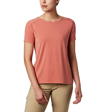 Women's Essential Elements™ Short Sleeve Shirt Essential Elements™ SS Shirt | 466 | L, Dark Coral, front